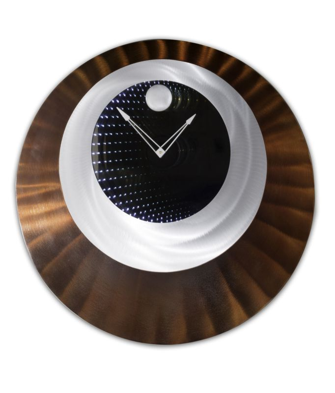 "Nova Lighting 3710388 Centered 32"" LED Lighted Wall Clock Brushed Aluminum Home Decor Clocks Wall Clocks"