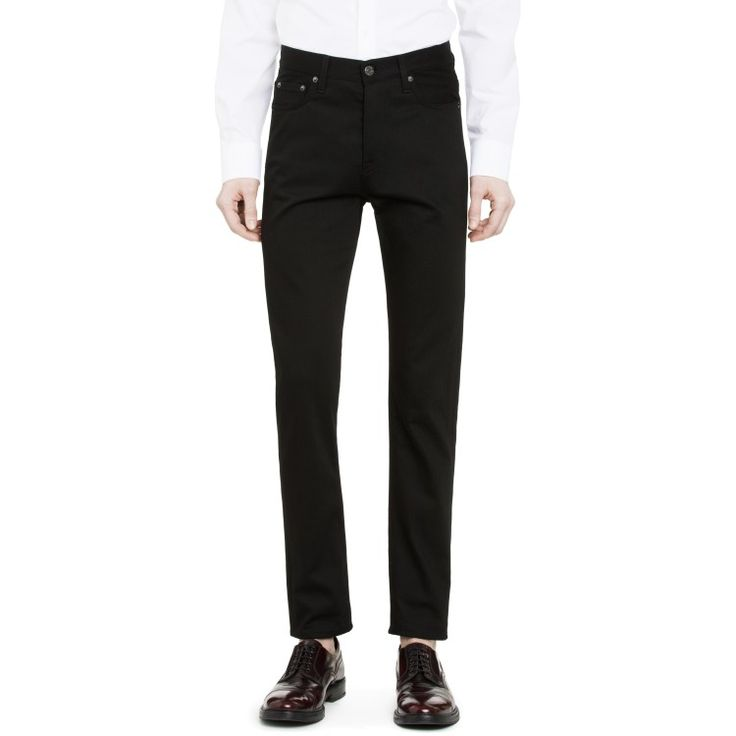 New Acne Studios jean model Town comes with a comfortable normal waist and a cropped leg that tapers from knee to hem.