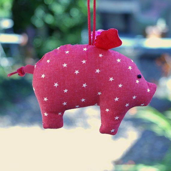 Cerdo volador por HucandMay en Etsy
