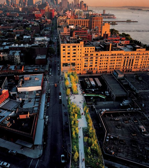 The High Line // new york's coolest park around. start with breakfast at the standard grill early in the morning, and then take the walk all the way up to the end of the high line. the view on the city is perfect if there are not too many tourists around.