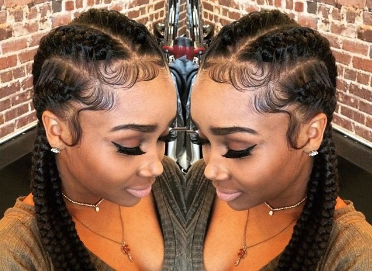 Black Women Natural Hairstyles Cornrow