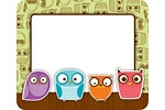 picture frame - owls