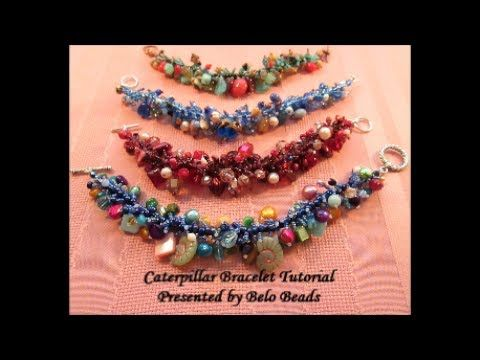 Caterpillar Bracelet Tutorial - Step by Step Instructions - Great way to use leftover beads! - YouTube