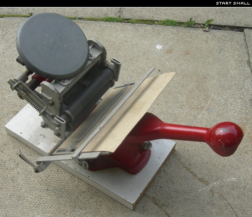 I have one of these little proof presses. Just need to get it working.