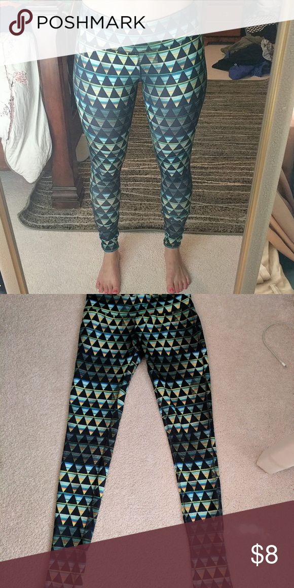 Barely worn patterned leggings Great condition Aztec print leggings Mossimo Supply Co Pants Leggings