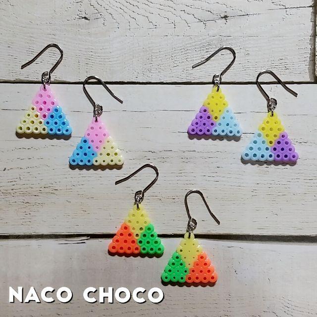 Earrings perler beads by NaCO CHoCO