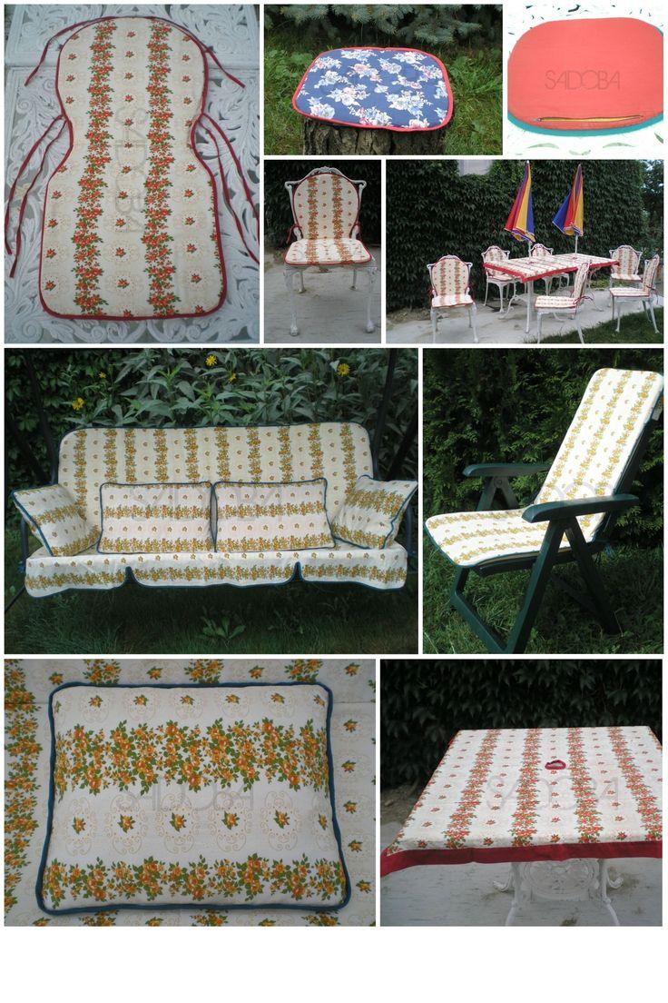 Záhradný textil - vankúš, obrus, sedák, poduška