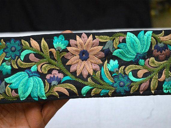Turquoise Sewing Indian Fabric Trim Crafting Sari Border Trim Etsy Trims Fashion Indian Fabric Fabric Trim