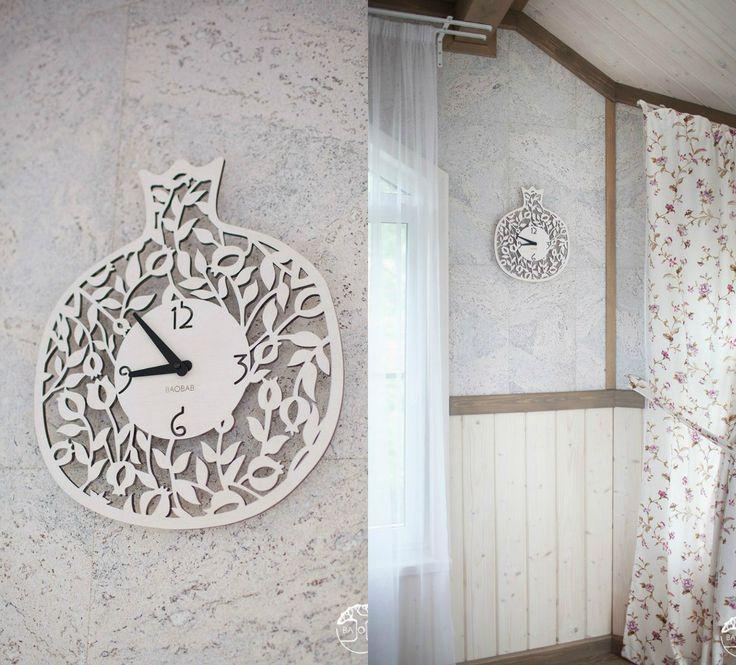 """Wooden wall clock """" Mini Granat"""" by BAOBAB"""