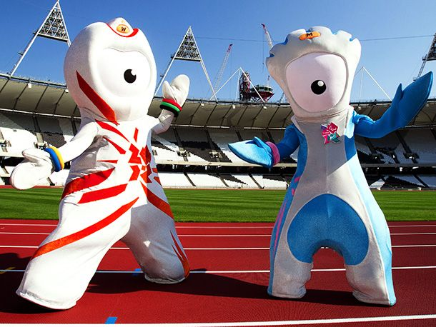 Wenlock and Mandeville London 2012. Olympic mascots. I will not judge. I will not!