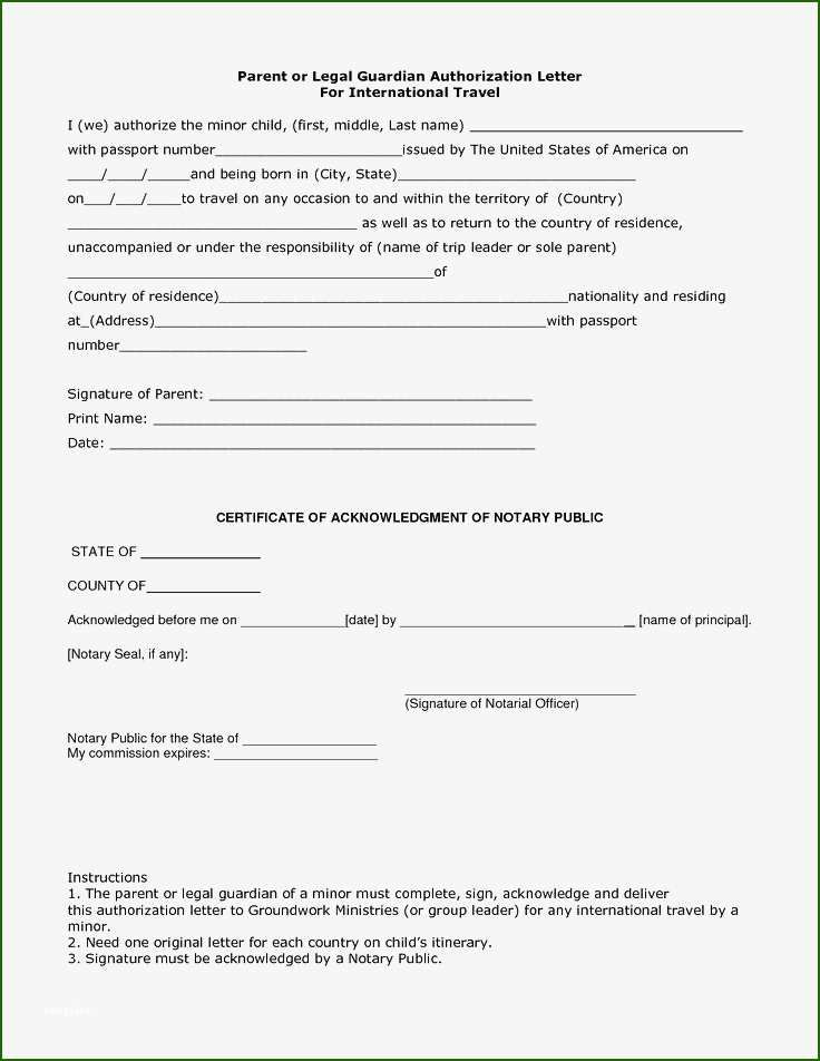 20 First Rate Naming A Guardian For Your Child Template Child Travel Consent Form Legal Guardianship Travel Consent Form