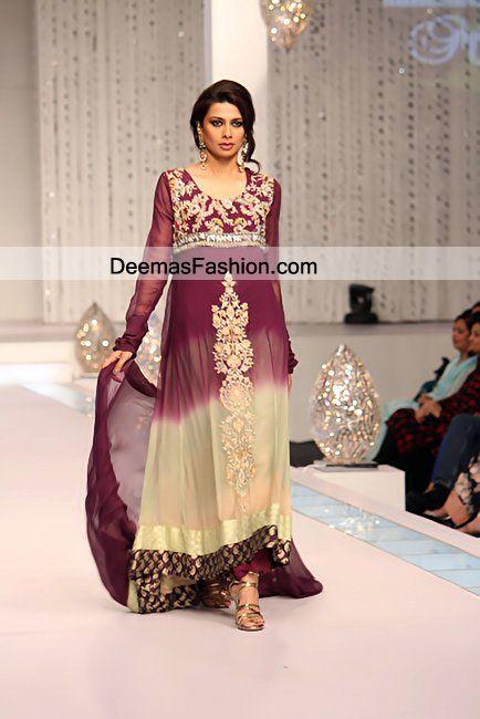 pakistani maxi dresses 2012   Pakistani Eid Dresses Double Tone Eid Wear Aline Dress   Latest ...