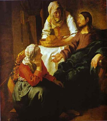 """""""Lord, don't you care that my sister has left me to do the work by myself? Tell her to help me!"""" """"Martha, Martha,"""" the Lord answered, """"you are worried and upset about many things, but few things are needed—or indeed only one. Mary has chosen what is better, and it will not be taken away from her."""" ~ Luke 10:40-42"""
