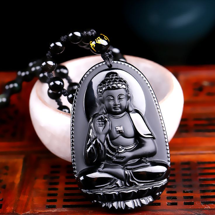 High Quality Unique Natural Black Obsidian Carved Buddha Lucky Amulet Pendant Necklace For Women Men pendants Jade Jewelry-in Pendants from Jewelry & Accessories on Aliexpress.com | Alibaba Group