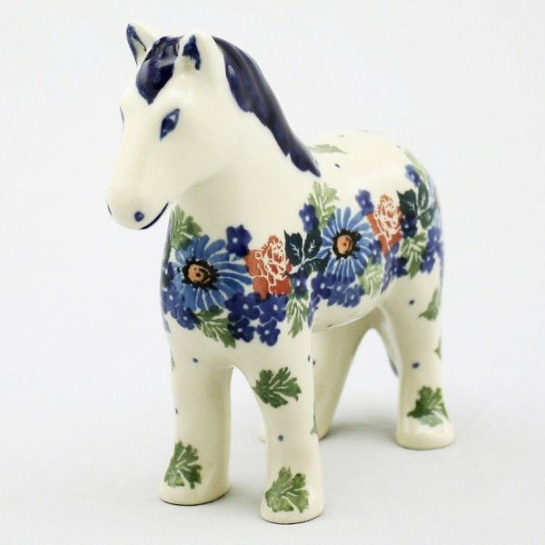 "Won't you be my Neeeeighbor. A delightful figureine for you to display or give. Surely someone you know loves ponies. * 5.25""H X 6""W In Poland there is a town called ""Miasto Ceramiki"" or Village of Ce"