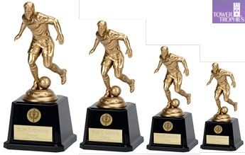 Football Player #Trophy on Classic Black base