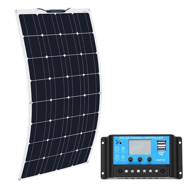 Boguang 16v 100w Solar Panel With Controller 10a Sonnenkollektor 100 Watt Flexible Placa Solar 12v Monoc Flexible Solar Panels Solar Panels Solar Energy Panels