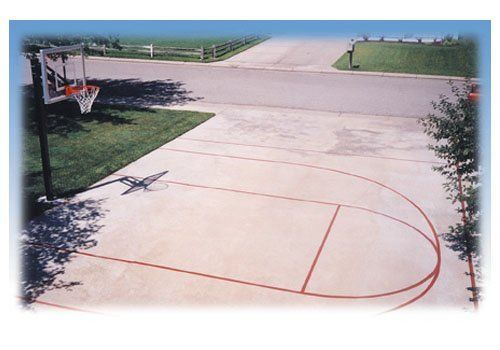 outdoor basketball court template - basketball court marking kit by goalsetter this