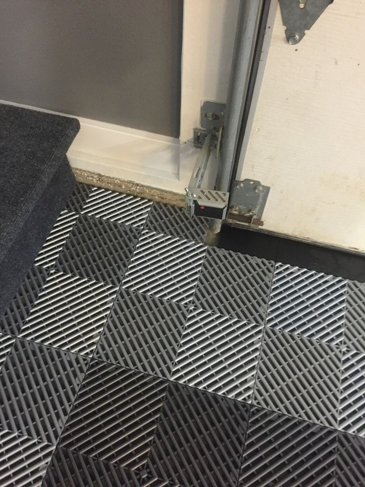Custom Garage Epoxy Floor Designs: Cut To Fit Around Your Garage Door. #GarageFlooring
