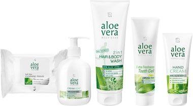 LR Aloe Vera Basis Set: http://bit.ly/19EaohP Inhalt des Sets: - Cremeseife - Haar- und Körpershampoo - Handcreme - Zahngel - Reinigungstücher