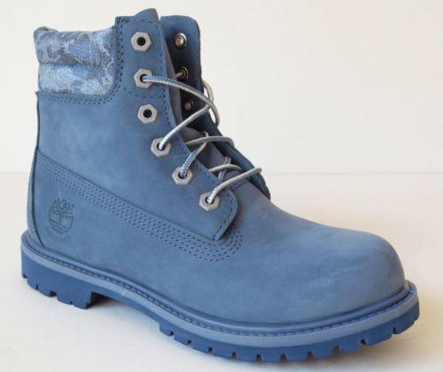 Timberland-Womens-Blue-6-Inch-Waterproof-Double-Denim-look-Collar-Boots-A14J5