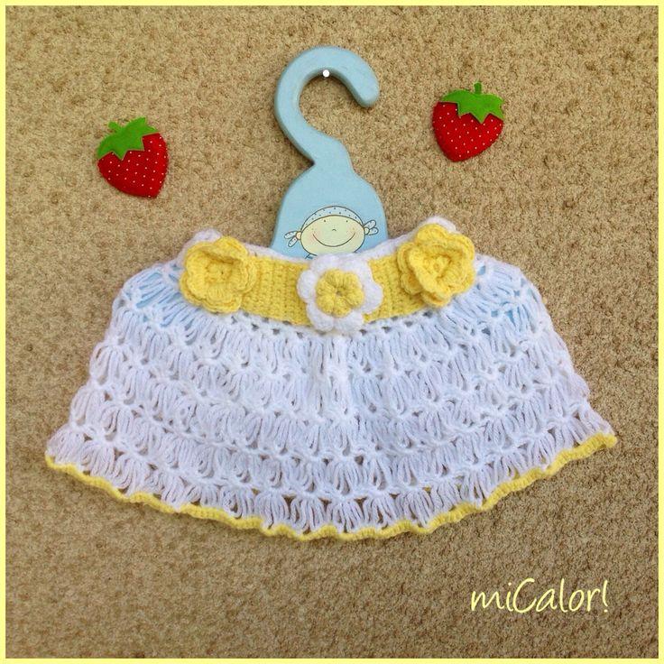Crochet Baby Skirt by miCalorKnits on Etsy