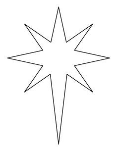 christmas star coloring pages printable | Christmas Star Printable, Bethlehem Star Pattern ...