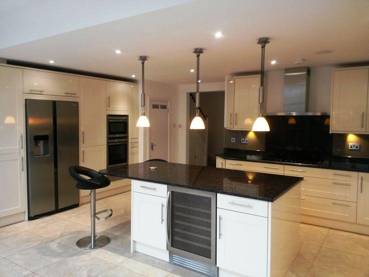 Modern kitchen in cream