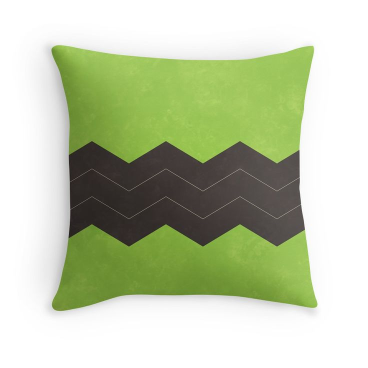 Lime Green and Dark Grey Chevron Throw Pillow Grey, Grey chevron and Dark