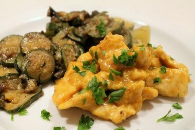 Pollo al curry con melanzane e zucchine - Chicken curry with eggplant and zucchini