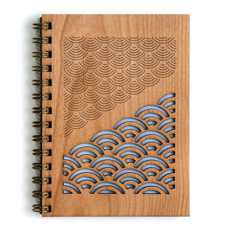Handcrafted wood cover journal for all your brilliant ideas. A perfect gift for…