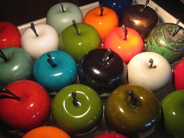Ceramics Apples at Geneva Nice Art pieces by Nuray Ada
