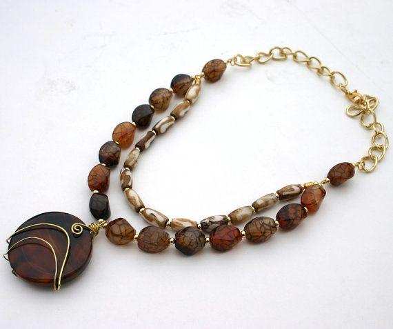 12 best mybeads images on pinterest anklet bangle bracelets and agate pendant necklace by inspiredtheory on etsy fandeluxe Images