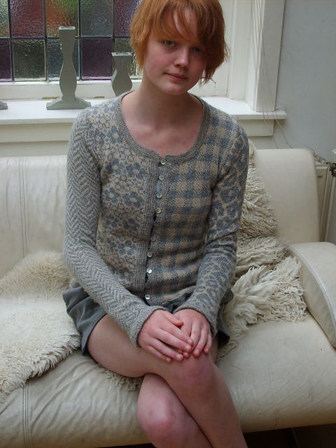Ravelry: Many Fair Isles pattern by Boadicea Binnerts | 5 stranded patterns in one garment! Chevrons, floral, plaid/gingham, leopard spots, and houndstooth (on the back).
