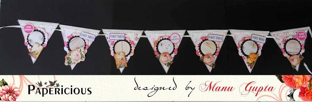 "Papericious: Baby Banner with Papericious ""Little Angel"" collection patte..."