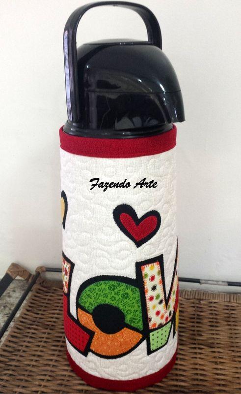 Capa para garrafa térmica