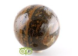 Oceaan Jaspis Bol 11,5 cm JP-RMB-1-1841  Super grote bol van Oceaanjaspis met kwarts -Madagaskar TOPPER!!!  Formaat: 11,5 cm  Wordt ook wel de Steen van Atlantis genoemd!  Durf jij het aan? haal oude kennis weer in huis!