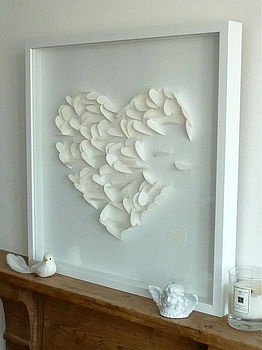 Falling heart framed picture