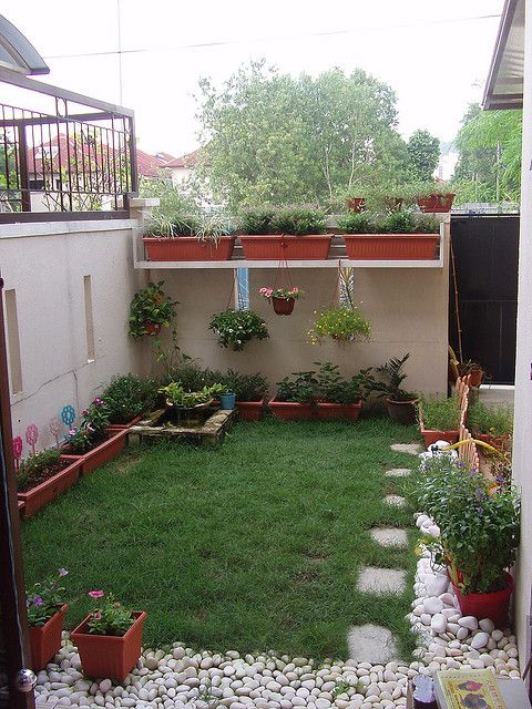 Small backyard.