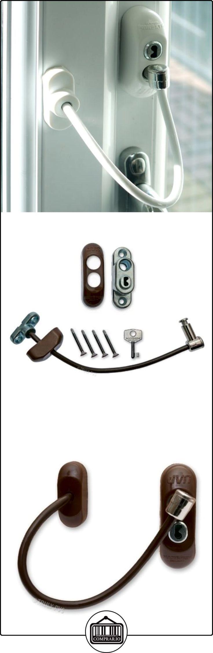 4 x marrón Max6mum de seguridad para ventanas y cierre de puerta para bebé y Seguridad - resistente con cables y es un elemento clave con cerradura  ✿ Seguridad para tu bebé - (Protege a tus hijos) ✿ ▬► Ver oferta: http://comprar.io/goto/B00JAIU3A0