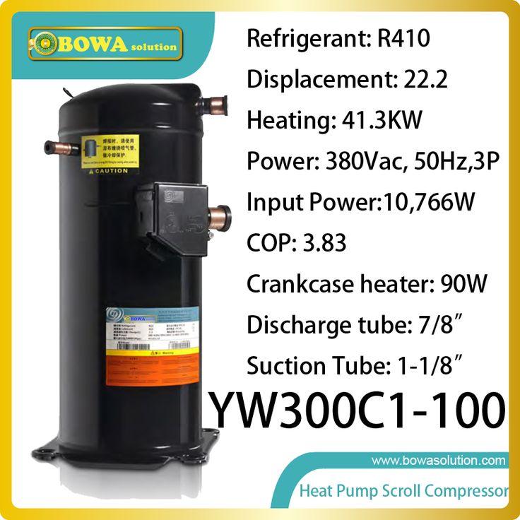 41KW heating capacity R410a spiral compressor replace bristol scroll compressor