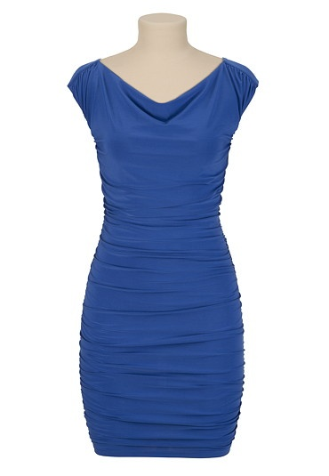 Fitted Drape Neck Dress - maurices.com