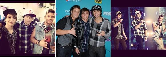 """O """"The X Factor"""" ainda está rolando, mas se depender dos nossos corações já temos um vencedor: o trio Emblem3. Wesley Stromberg, Drew Chadwick e Keaton Stromberg são muito lindos e postaram várias fotos dos bastidores do programa. Quem aí também está apaixonadasa pelo E3?"""