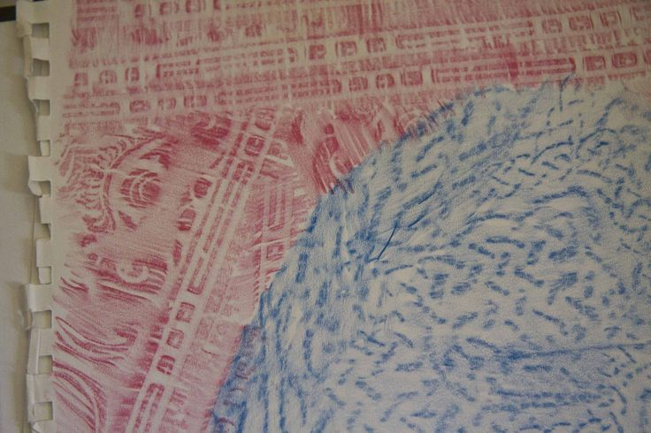 Day 7 Rubbings in Red and Blue