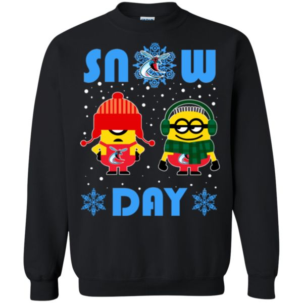 Minion Delaware State Hornets Ugly Christmas Sweaters Snow Day Snowflake Sweatshirts