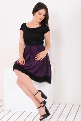Mezuniyet ve Balo Elbise Modelleri, En Trend Düğün Nişan Abiye ve Elbiseleri En İyi Fiyatlarla! Detayları Göster Etek Dantel Güpürlü Mürdüm Siyah Elbise