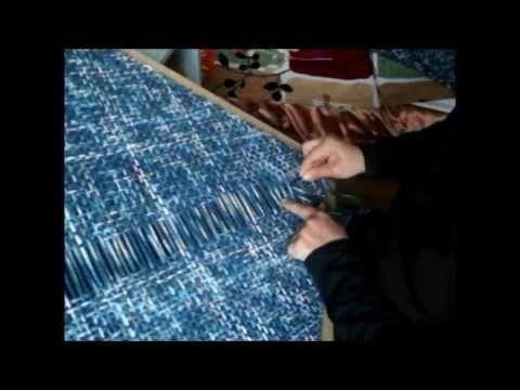 Telar bastidor : Chaleco (chaquetita). Parte 1 - YouTube