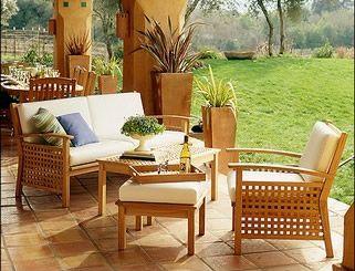 Outdoor Area and Teak Patio Furniture