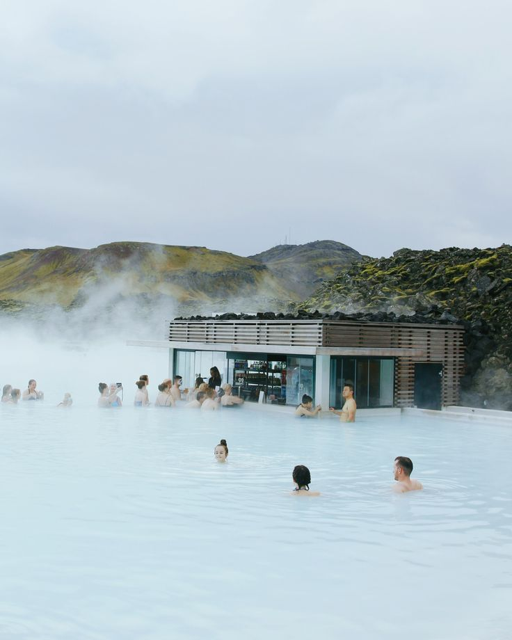 Blue Lagoon, Iceland — they have a bar. How cool is that?