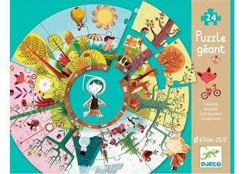 gigantische puzzel seizoenen DJECO | kinderen-shop Kleine Zebra